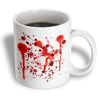3Drose Mug_128254_1 Fake Blood Splatters Ceramic Mug, 11-Ounce