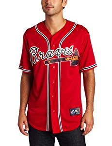 MLB Atlanta Braves Alternate Replica Jersey, Red by Majestic