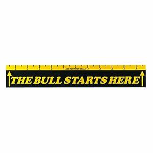 Fat Cat The Bull Starts Here Dart Throw Line Marker, Yellow/Black
