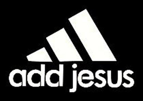 Add Jesus Vinyl Car Decal | Cars Trucks Vans Walls Laptop | Black Decal | Cars Trucks Vans Walls Laptop | 5.5 In Decal | KCD275