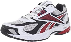 Reebok Men's Pheehan Running Shoe,Grey/White/Red/Black,8.5 M US