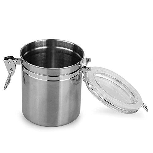 Sonline Pot Boite Bocal Sucrier Alimentaire a epice Sucre Poivre Sel Cuisine 16*9.3*10CM