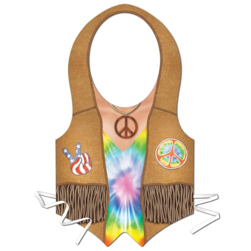 Plastic Hippie Vest Party Accessory (1 count) (1/Pkg)