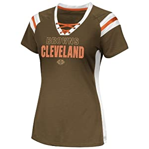 NFL Cleveland Browns Women's Draft Me VI Jersey, Classic Brown, Medium