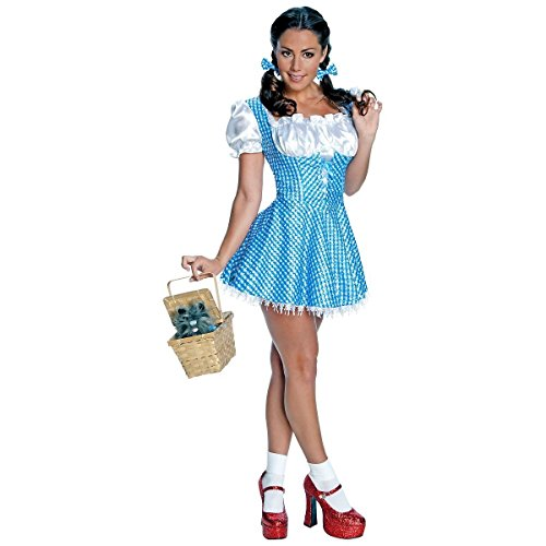 GSG Sequin Dorothy Costume Adult Wizard of Oz Storybook Halloween Fancy Dress (Sequin Sailor Costume Hat)