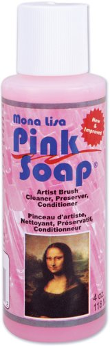 Mona Lisa Pink Soap - 4 Oz. *** Product Description: Mona Lisa Pink Soap - 4 Oz. This Phenomenal Soap Not Only Cleans The Fresh Paint From Your Brushes But The Dried Paint As Well. It Is Also Great For Conditioning And Reshaping Your Brushes. Alo ***