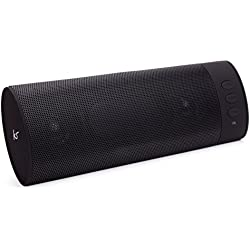 KitSound BoomBar Universal Portable Rechargeable Stereo Bluetooth Sound System Compatible with Smartphones/Tablets and MP3 Devices - Black