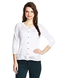 Gas Womens Cotton Cardigan (854171_White_Medium)
