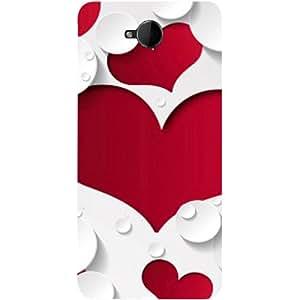 Casotec Multiple Hearts Design 3D Printed Hard Back Case Cover for Microsoft Lumia 650