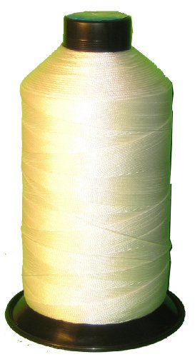 Item4ever® RAW WHITE Bonded Nylon Sewing Thread Size T210 #207 1000 Yard for Outdoor, Leather, Bag, Shoes, Canvas, Upholstery