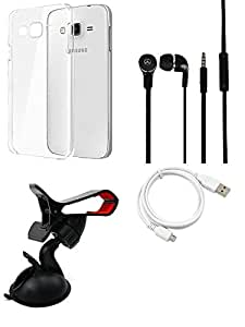 Cover Case Headphone USB Cable Mobile Holder for Samsung Samsung Galaxy A7 - Combo