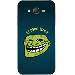 Casotec U Mad Bro Design Hard Back Case Cover for Samsung Galaxy J7