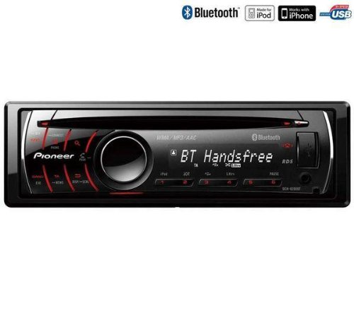 Pioneer DEH-P6200BT CD Receiver with Built-In Bluetooth and USB iPod Control