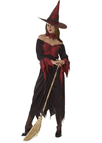 Ciao 16227 - Strega Costume Adulto, Rosso, Taglia Unica