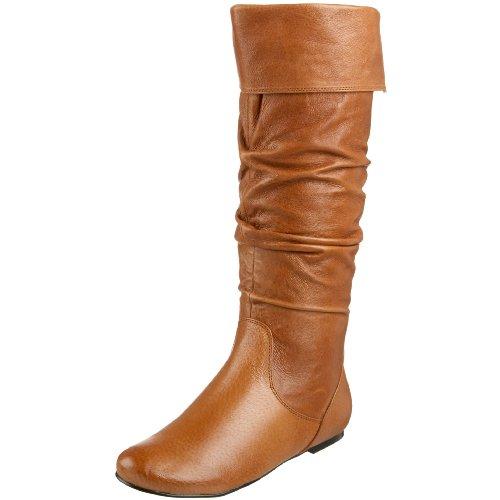 cognac flat boots images