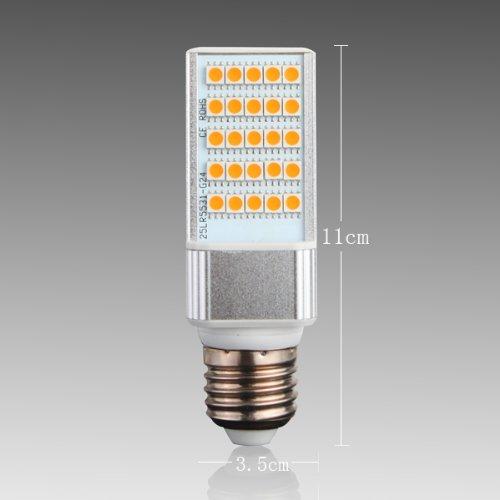 Yaho-Mall E27 5050 Smd 25Led Energy Saving High Power Lamp Bulb Ac 85V-265V/Warm White-5W