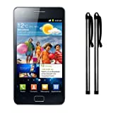 SAMSUNG I9100 GALAXY S2 II CAPACITIVE TOUCHSCREEN STYLUS TWIN PACK SILVER PART OF THE QUBITS ACCESSORIES RANGEby Qubits