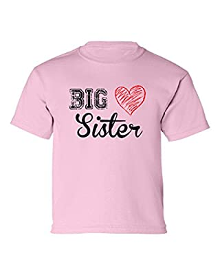 T-Shirt Universe Little Girls' Big Sister (Heart) Toddler T-Shirt
