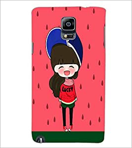 PrintDhaba Cute Doll D-5869 Back Case Cover for SAMSUNG GALAXY NOTE 3 (Multi-Coloured)