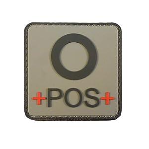 ACU Gray OPOS O+ Groupe Sanguin Tactical Combat PVC Gomme 3D Velcro Écusson Patch