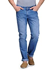 Canary London Light Blue Cotton Regular Fit Jean