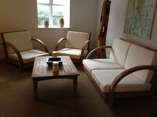 Teak Conservatory Set with Cushions