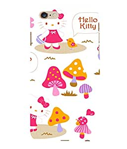 printtech Kitty Mushroom Back Case Cover for Apple iPhone 6S Plus