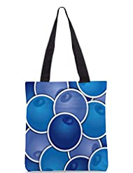 Snoogg Blueberry Background Card In Vector Format Designer Poly Canvas Tote Bag