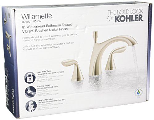 Kohler R99901-4D-BN Williamette Widespread Bathroom Sink Faucet, Vibrant Brushed Nickel (Kohler Bathroom Faucet Nickel compare prices)