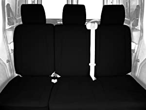 CalTrend Rear Row 60/40 Split Bench Custom Fit Seat Cover for Select Nissan Xterra Models - DuraPlus (Black)