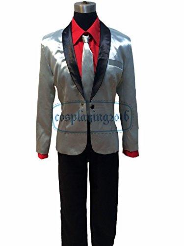 NEW! Halloween Suicide Squad Joker Costume Cosplay Silver Jacket Coat Psychos Killers