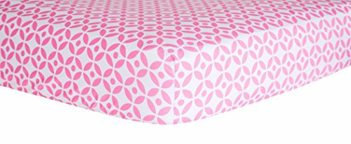 Trend Lab Lattice Crib Sheet, Lily