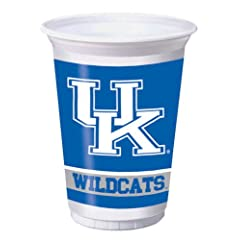 Buy Creative Converting Kentucky Wildcats Printed 20 Oz. Plastic Cups (8 Count) by Creative Converting