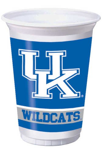 Creative Converting Kentucky Wildcats Printed 20 Oz. Plastic Cups (8 Count) (Party Supplies Uk)