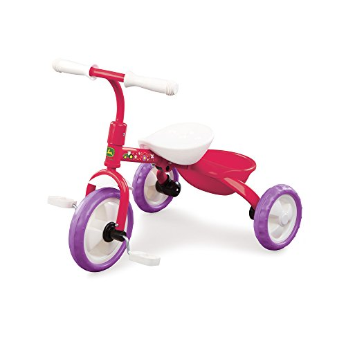 <b>John Deere Steel Tricycle Pink</b>