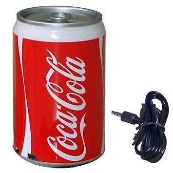 Coke Soda Can USB Portable Mini Speaker Radio Mp3 Player Phone Tablet Pc Laptop (Soda Speakers compare prices)