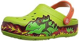 crocs Kids\' CrocsLights Fire Dragon Light-Up Clog  (Infant/Toddler/Little Kid/Big Kid),Volt Green,9 M US Toddler