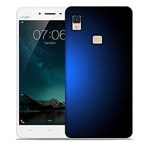 Snoogg Glowing Blue Design Designer Protective Phone Back Case Cover For Vivo V3 Max