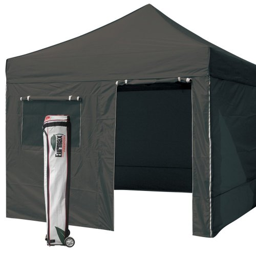 Eurmax Std 10 X 10 Pop Up Canopy Gazebo Party Tent With 4 Zipper End Sidewalls (Black) front-912446
