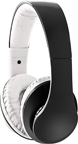Sharper Image Shp2200Wh 3.5 Mm Ultra Bass Headphones With Mic, Fabric Cable White