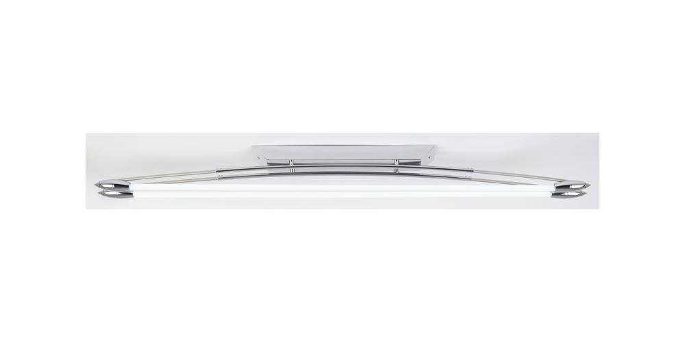 Contemporary Twin Fluorescent Ceiling Light in Polished Chrome   HP023904       review and more information