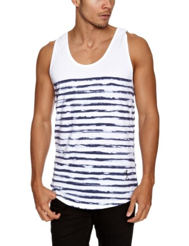Religion Ltd Psl04 Painted Stripe Men's Vest White Large