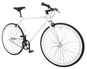 Vilano Rampage Fixed Gear Bike Fixie Single Speed Road Bike White Medium (54cm)