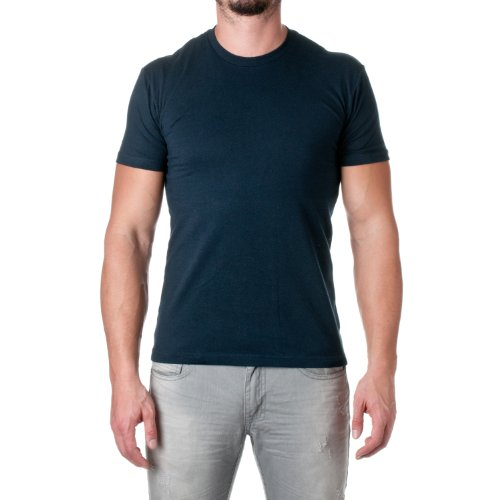 Next Level Apparel Men'S Fitted Short-Sleeve Crewneck T-Shirt - Midnight Navy - Large