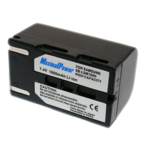 Maximal Power DB SAM SBLSM160 Replacement Battery for Samsung Digital Camera/Camcorder (Black)