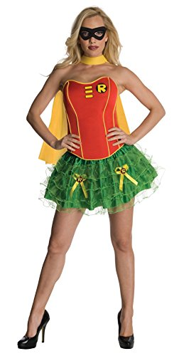 [UHC Women's Dc Comics Robin Flirty Corset Theme Party Halloween Sexy Costume, Large (12-14)] (Robin Corset Costume)