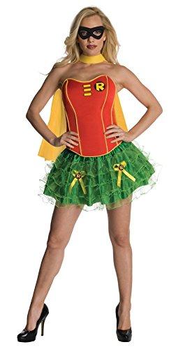 [UHC Women's Dc Comics Robin Flirty Corset Theme Party Halloween Sexy Costume, Large (12-14)] (Robin Corset Costume)