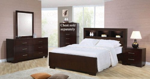 4Pc King Size Bedroom Set In Cappuccino Finish front-1015268