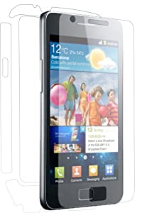 XtremeGUARD Samsung GALAXY S II FULL BODY Screen Protector Front+Back+Sides(Ultra CLEAR)(XtremeGUARD Packaging)