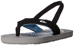 Quiksilver Molokai Layback Strap Sandal (Toddler), Grey/Grey/Blue, 6 M US Toddler